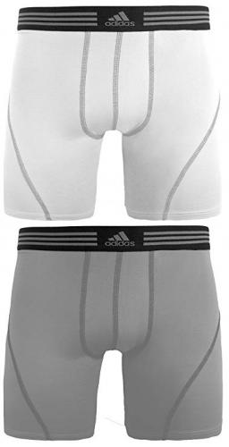 adidas Men's Athletic Stretch Cotton Boxer Brief Underwear (